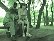 Martine gangbang in the park with four young black men