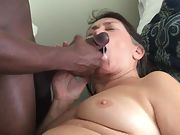 Cum crazy grandmother loves being fed super hot edible cum from a ebony cock
