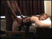 Black bull destroying his white female marionette's vag