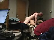 Hot asian girlfriend smashed by white lover on hidden camera