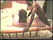 Cuck spouse filming stellar wife breeding with two black guys and anal