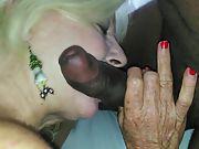 Insatiable white granny is the ultimate super crank for bbc