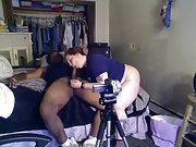 Homemade bi-racial duo having sex on the web cam