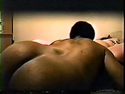 Obese wifey doing it with a ebony man who has a larger dick
