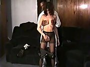 Fresh to black cock wife interracial sex tape with dark-hued stud stranger