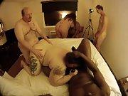 Fat mature women participating in an bi-racial orgy