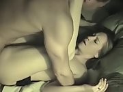 9 inches horny wife interracial double dick intercourse tape