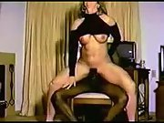 Wife first time with a giant black trouser snake cuckold interracial