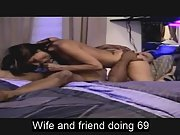 Sexy wife doing 69 with black friend
